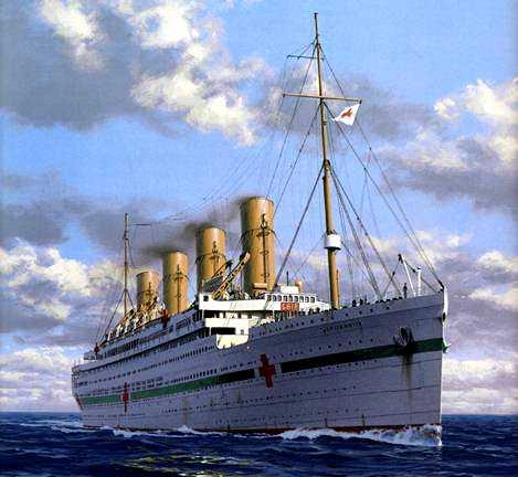 un bateau de guerre qui coule