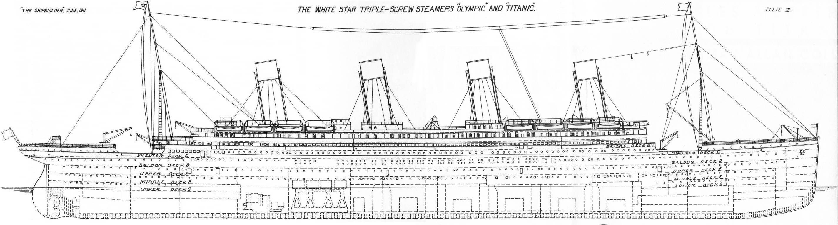 Plans d taill s du titanic - Dessin du titanic ...